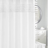Smock Pleat Shower Curtain | Gracious Style