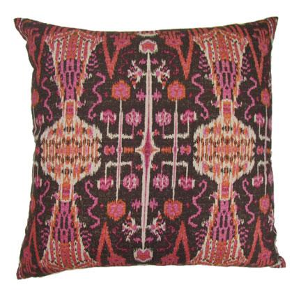 Bombay Raspberry Throw Pillow