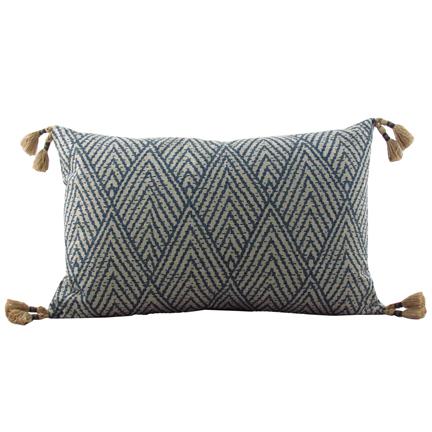 Tahitian Stitch Sapphire Pillow