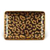 Leopard Rectangular Tray 5 x 7 in