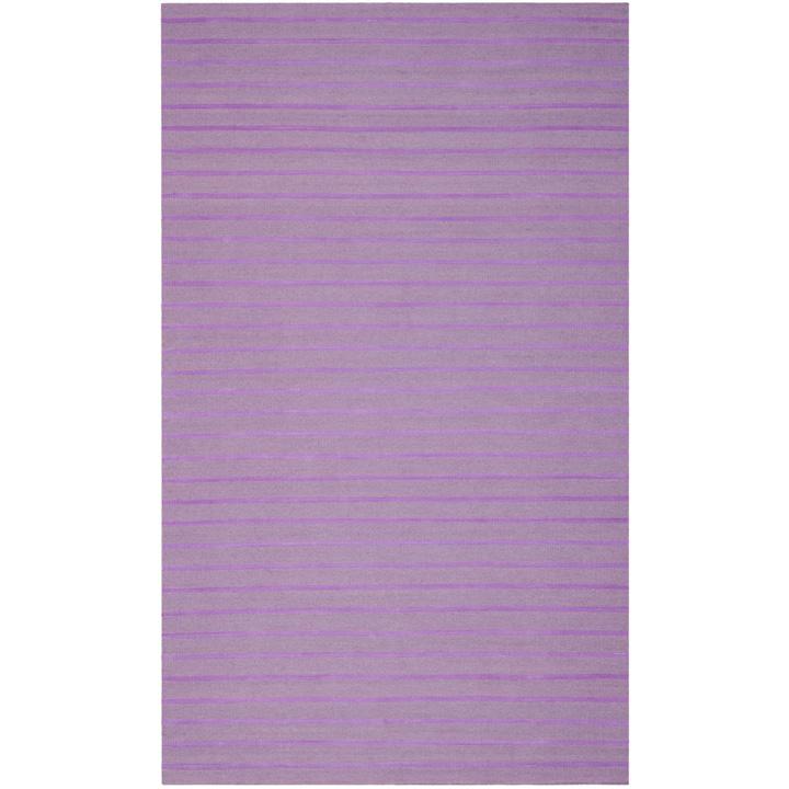 Gypsy Stripe Turquoise Grey Woven Cotton Rug: Dash & Albert Fisher Ticking Woven Cotton Rug