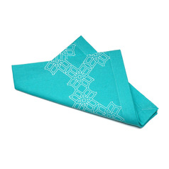 "Truman Cotton Dinner Napkin 20"" x 20"" Turquoise"
