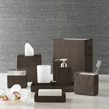 Delano Chestnut Bath Accessories by Kassatex | Gracious Style
