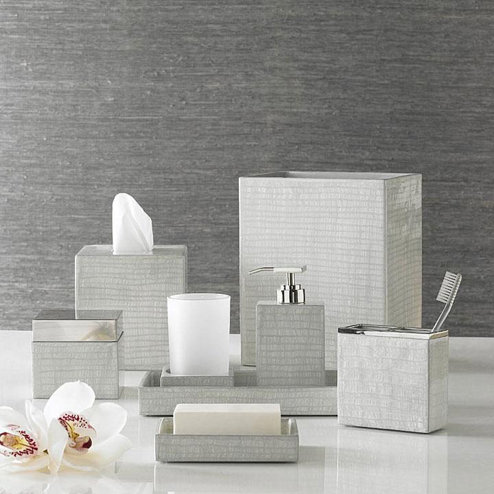 Silver Bathroom Accessories : Home Bath Bath Accessories Delano Silver Bath Accessories