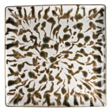 Cream Scale Gold Finition Extra Large Square Tray 10.5 in L 10.5 in W | Gracious Style