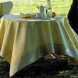 Garnier Thiebaut Eugenie Yellow Table Linens | Gracious Style