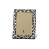 Chevron Platinum and Grey Enamel Picture Frame