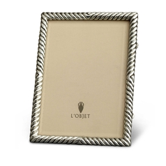 L'Objet Deco Twist Platinum Picture Frame | Gracious Style 
