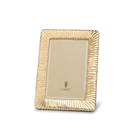 Pleated Gold Picture Frame