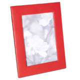 Red Traditional Leather Picture Frame | Gracious Style