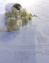 Garnier Thiebaut Eloise Diamant Table Linens | Gracious Style