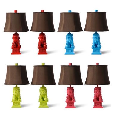 Mini Foo Dog Table Lamps By Barbara Cosgrove Gracious Style