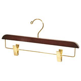 Dark Wood Pant & Skirt Hanger | Gracious Style