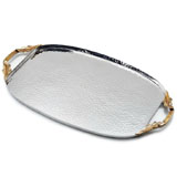 Mary Jurek Apollo Oval Tray Leaf Handles | Gracious Style Official Retailer