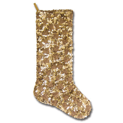 Gold Antique Sequin Stocking