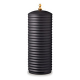 Han Canisters Black Canister / Vase with lid 5.5 x 14.5 in