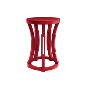 Bungalow 5 Hourglass Red Stool / Side Table | Gracious Style