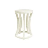 Bungalow 5 Hourglass White Stool / Side Table | Gracious Style