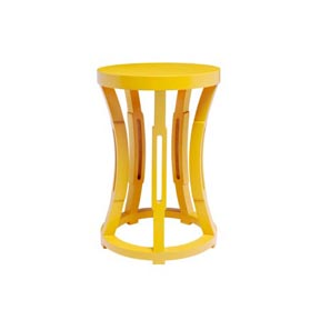 Bungalow 5 Hourglass Yellow Stool &#47; Side Table &#124; Gracious Style