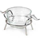 Mary Jurek Primavera Leaf Stand with Glass Bowl | Gracious Style Official Retailer