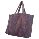 Ikat Stripes Rust Terry Tote Bag by Fresco | Gracious Style