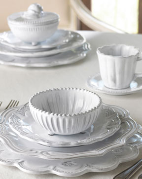 Incanto White Dinnerware by Vietri | Gracious Style