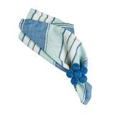 """Amalfi Stripe Napkin Delft Blue 22""""Sq"""