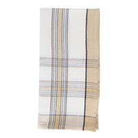 Country Plaid Napkin Beige/Gray 22 in Sq