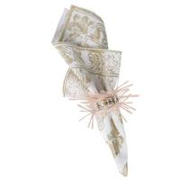 Florentine Gypsy Napkin Gold/Whitewash 22 in Sq