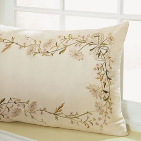 Sferra Jolie Embroidered Throw Pillow | Gracious Style