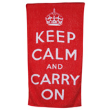 Keep Calm Cotton Bath Towels by Fresco | Gracious Style