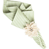 "Striped Napkin Pistachio 22""Sq"