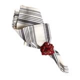 "Provence Stripe Napkin Ebony 22""Sq"