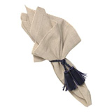 "Josephine Linen Cotton Crossweave Napkin Flax 22""Sq"
