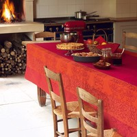 Le Jacquard Francais Villa Toscane Opera Red Table Linens | Gracious Style