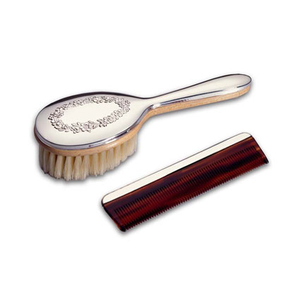 Floral Brush &amp; Comb Set