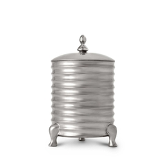 Han Canisters Canister Candle with Lid - 3-Wick - Platinum 5.5 x 9 in