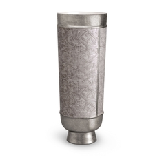 Fortuny Decorative Vase XL Moresco Platinum 7.5 x 20 in