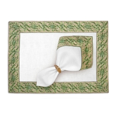 Fortuny Placemats Farnese Green (Set of 4) 20 x 14 in