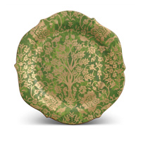 Fortuny Platter Round Alberelli Green 14 in