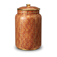 Fortuny Canister Large Ashanti Orange 6 x 10.5 in