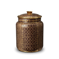 Fortuny Canister Medium Ashanti Grey 6 x 9 in