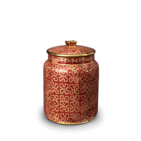 Fortuny Canister Small Ashanti Red 4.5 x 7 in