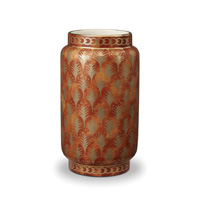 Fortuny Vase Medium Piumette Orange 5 x 9 in