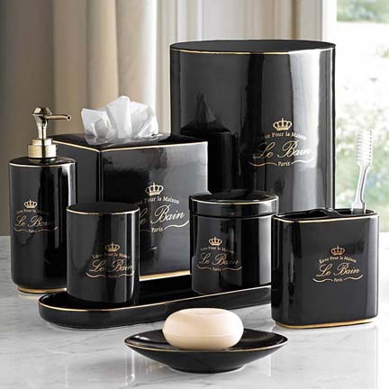 kassatex le bain black bath accessories gracious style