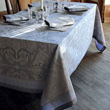Garnier Thiebaut Luxuriance Alouette Table Linens &#124; Gracious Style