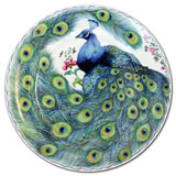 Mottahedeh Peacock Feather Dessert Plates & Mugs | Gracious Style