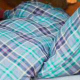 Malibu Check Linen Duvet Covers and Shams | Gracious Style