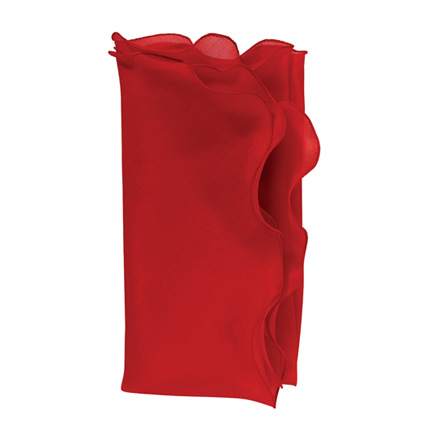 Bias Silk Organza Napkins - Red, Four