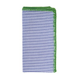 Seersucker Napkins - Blue/Green, Four